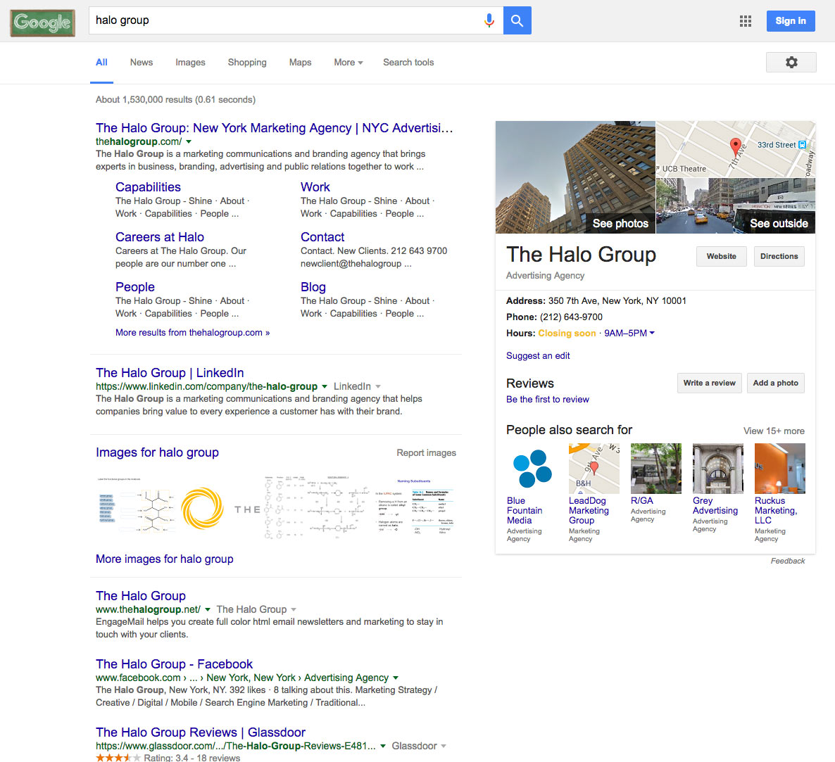Anatomy of a Google Search Engine Results Page (SERP) - New York ...
